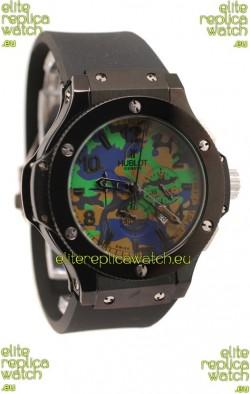 Hublot Big Bang Commando Green Camouflage Japanese Watch