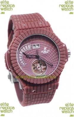 Hublot Red Caviar Tourbilllon Japanese Replica Watch