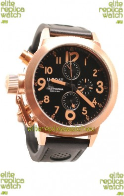 U-Boat Flightdeck Japanese Gold Replica Watch