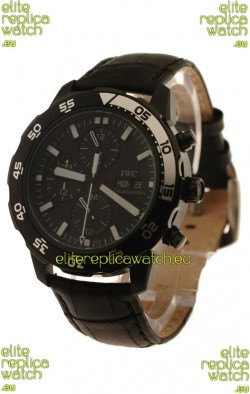 IWC Aquatimer Chronograph Japanese Replica PVD Watch