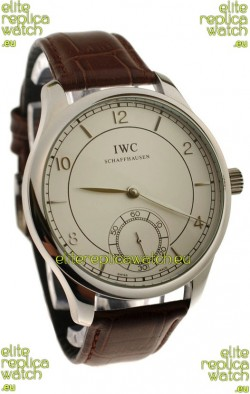 IWC Portugese Automatic Steel Watch in Brown Strap