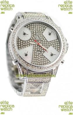 Jacob & Co Diamond Japanese Replica Watch in Grey Diamond Dial