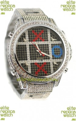Jacob & Co Diamond Japanese Replica Watch in Black Dial