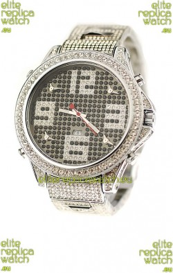Jacob & Co Diamond Japanese Replica Watch in Big Arabic Markers