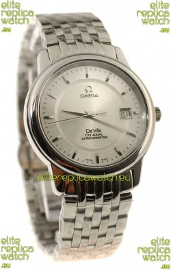 Omega Co-Axial Deville Japanese Steel Watch in Stick Markers