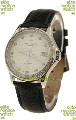 Patek Philippe Geneve Replica Watch in Diamond Bezel