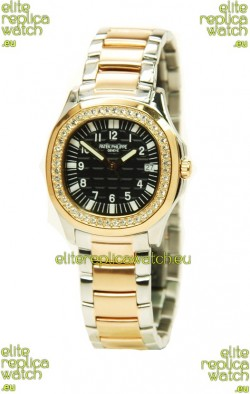 Patek Philippe Aquanaut Two Tone Ladies Gold Watch