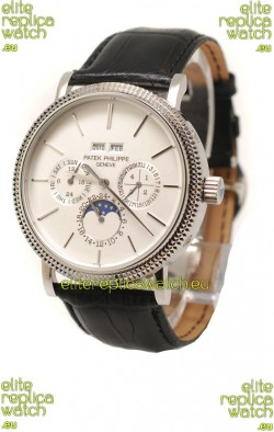 Patek Philippe Grand Complications Japanese Steel Watch in White Dial