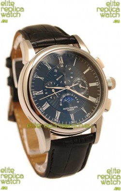 Patek Philippe Grand Complications Replica Watch in Black Dial