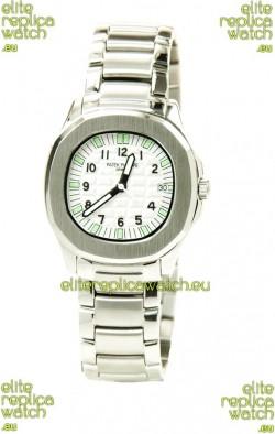 Patek Philippe Aquanaut Ladies Steel Watch in Green Markers