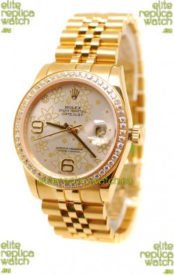Rolex Datejust Floral Motif 2011 Edition Japanese Replica Watch