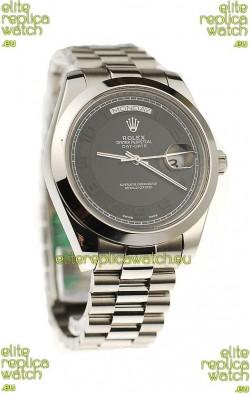 Rolex Day Date II Silver Japanese Replica Watch