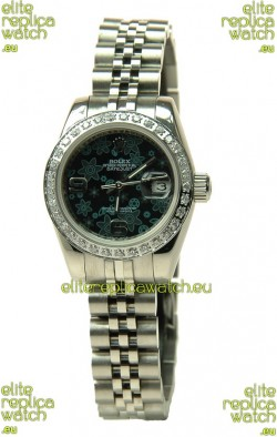 Rolex Floral Motif Datejust Ladies Replica Watch