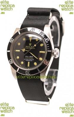 Rolex Submariner Swiss Watch Black Nylon Strap Watch