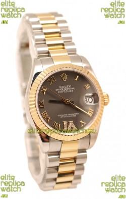 Rolex Oyster Perpetual Datejust Diamonds VI Japanese Replica Watch -36MM