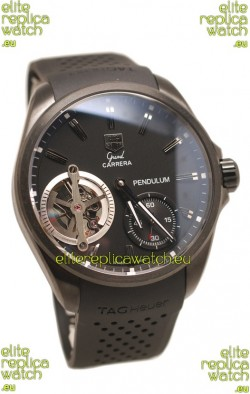 Tag Heuer Grand Carrera Pendulum Swiss Automatic Watch in Black