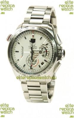 Tag Heuer Grand Carrera Calibre 36 Swiss Replica Watch in White Dial