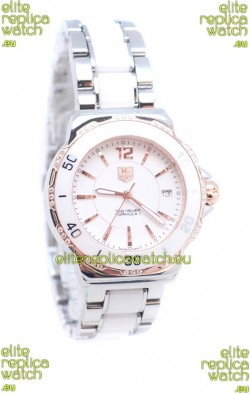 Tag Heuer Formula 1 Japanese Quartz Ladies Watch in Ceramic Bezel with Diamonds