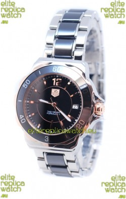 Tag Heuer Formula 1 Quartz Rose Gold Black Ceramic Watch