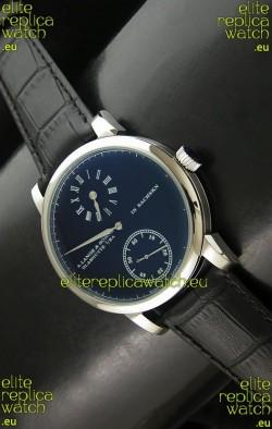 A. Lange & Sohne Cortes de Geneve Decorative Bridges Classic Replica Watch in Black Dial