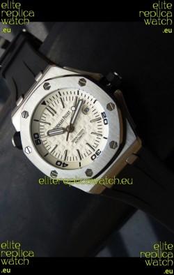 Audemars Piguet Scuba Japanese Replica Watch White Dial