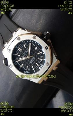 Audemars Piguet Scuba Japanese Replica Watch Black Dial