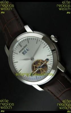Audemars Piguet Jules Tourbillon Japanese Replica Watch in Silver Dial