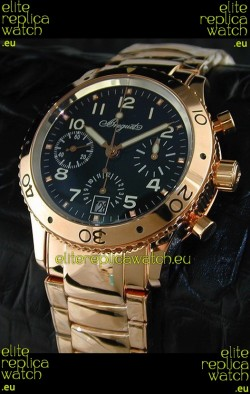 Breguet Aeronavale Swiss Replica Watch in Pink Gold