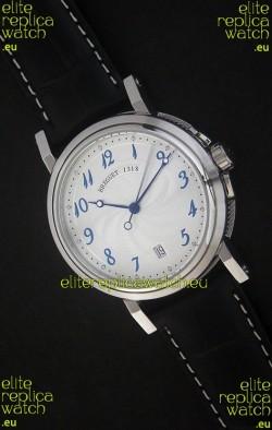 Breguet De La Marine Swiss Replica Steel Watch in White Dial