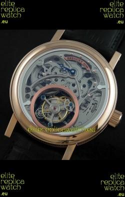 Breguet 4199 Swiss Watch in Grey Skeleton Tourbillon Watch