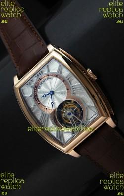 Breguet 986 AI Swiss Watch in Silver & Golden Dial