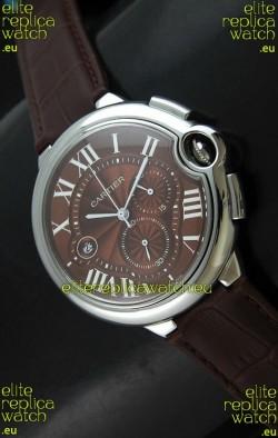 Cartier Ballon de Japanese Replica Watch in Brown Dial