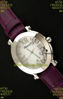 Chopard Happy Sport Ladies Japanese Replica Watch in Steel