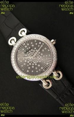 Chopard Xtravaganza Ladies Ladies Japanese Replica Watch in Black Dial