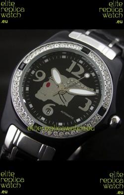 Corum Imitation Ceramics Japanese Replica Watch in Black Dial