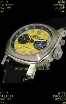 Ferrari Granturismo Swiss Replica Watch in Yellow Dial