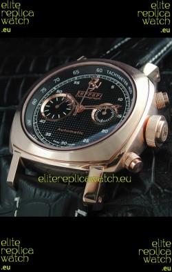 Ferrari Granturismo Swiss Replica Watch in Pink Gold Case