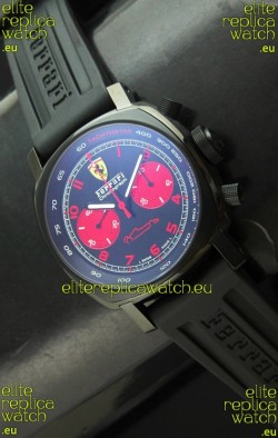 Ferrari Chronograph Swiss Replica Watch in Black Dial