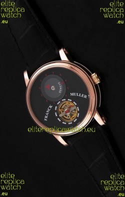 Franck Muller Classic Tourbillon Japanese Replica Watch in Black Dial