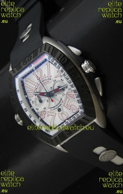 Franck Muller SingaporeGP Series 2009 Japanese Replica Watch in White Dial