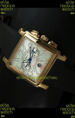 Franck Muller King Conquistador Cortez 10000 Rose Gold Swiss Replica Watch