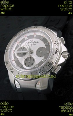 Glashuette Sport Evolution Swiss Chrono Watch in White Dial