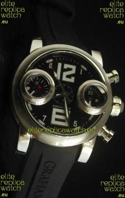 Graham Chronograph Swordfish Swiss Replica Watch in Black Dial