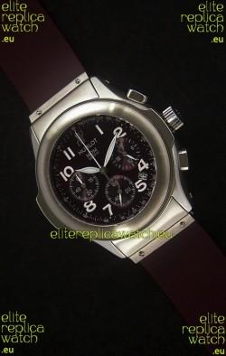 Hublot MDM Geneve Japanese Watch in Dark Red Dial