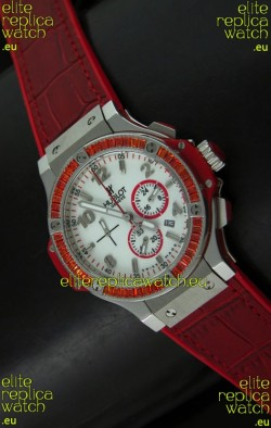 Hublot Big Bang Japanese Repica Watch in Red Strap