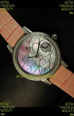 Jaeger LeCoultre Japanese Quartz Movement Ladies Watch - Pink Dial