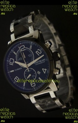 Montblanc FlyBack Chronometer Watch in Dark Black Dial