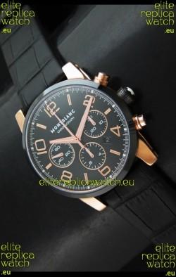 Mont Blanc Timewalker Swiss Watch in Rose Gold Case - Ultimate Mirror Replica