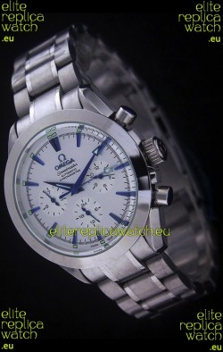 Omega Speedmaster Automatic Chronometer Watch in White Dial