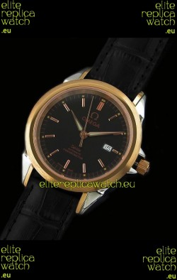 Omega Deville Escapement Mechanical Watch in Pink Gold